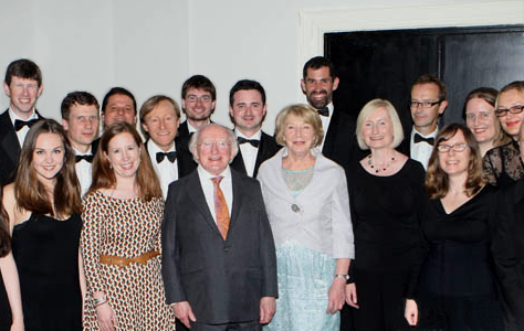 With President Higgins at Puttnam concert