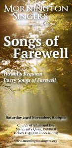 Songs of Farewell poster